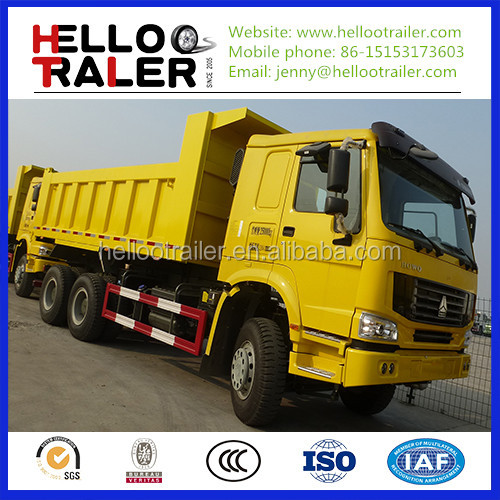 sand tipper dump truck /howo 6x4 10 wheeler dump trucks (good price)