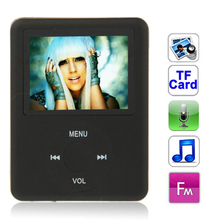 1.8 inch TFT Screen MP4 Player with TF Card Slot, Support Recorder, FM Radio, E-Book and Calendar (Black)