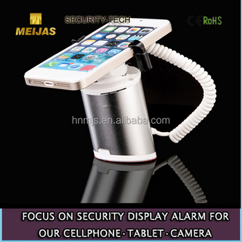 Stand-Alone Security Charging Alarm Mobile Phone Stand,mobile phone display stand with alarm