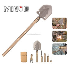 multifunctional stainless steel Survival Tactical Shovel, outdoor camping shovel