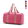 Travel Duffel Bag Express Weekender Bag Carry On Luggage With Shoe Pouch Canvas Stripe Handle