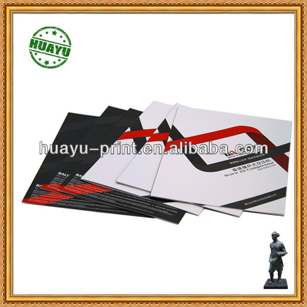 golden stamping Magazine and Brochure printing art paper book printing