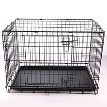 China folding large metal wire dog crate factory direct
