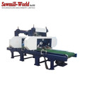electric Industrial used multi head horizontal resaw band saw machine