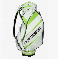 crystal material,PU,pu Material design your own golf bag /golf 9-inch model