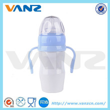 economy bpa free stainless steel baby feeding bottle with handle