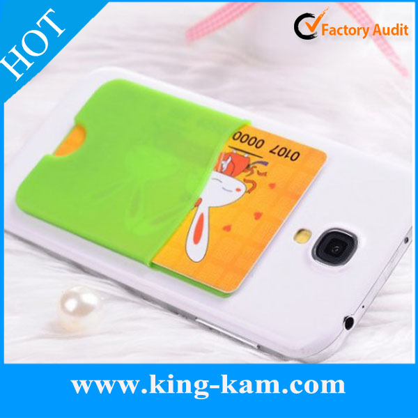 promotional silicone 3m sticker wallet wholesale in good quality