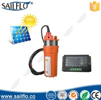 9300 6LPM 24 volt 70M Lift dc deep well solar submersible water pump system/price solar water pump for agriculture irrigation