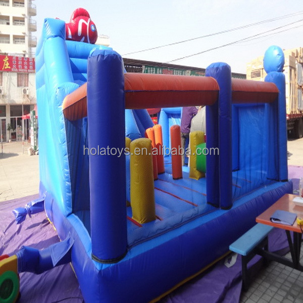 Blue inflatable bouncer/bouncy castles for adult