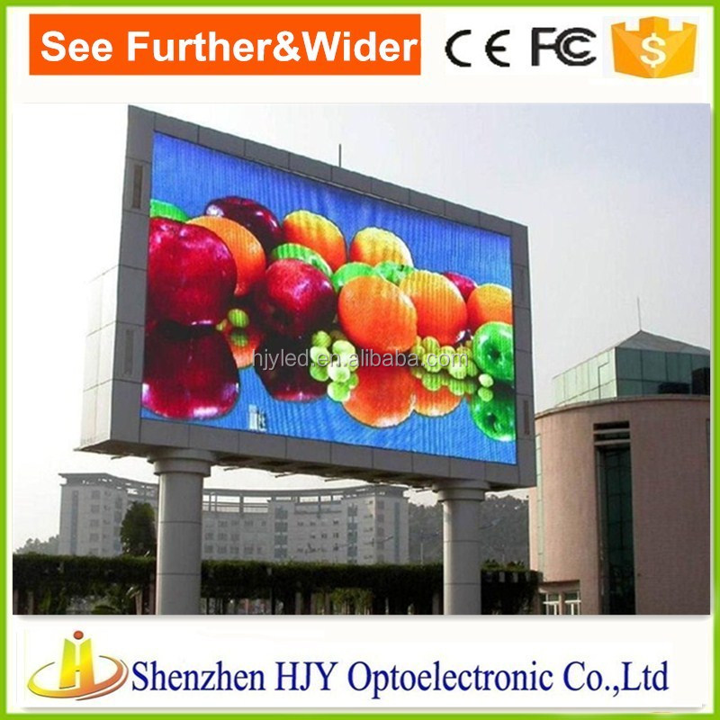 China Shenzhen HJY advertising led display hd led video youtube screen wall for outdoor
