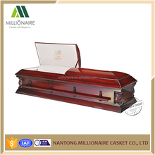 Funeral equipment jewish casket with interior decoration