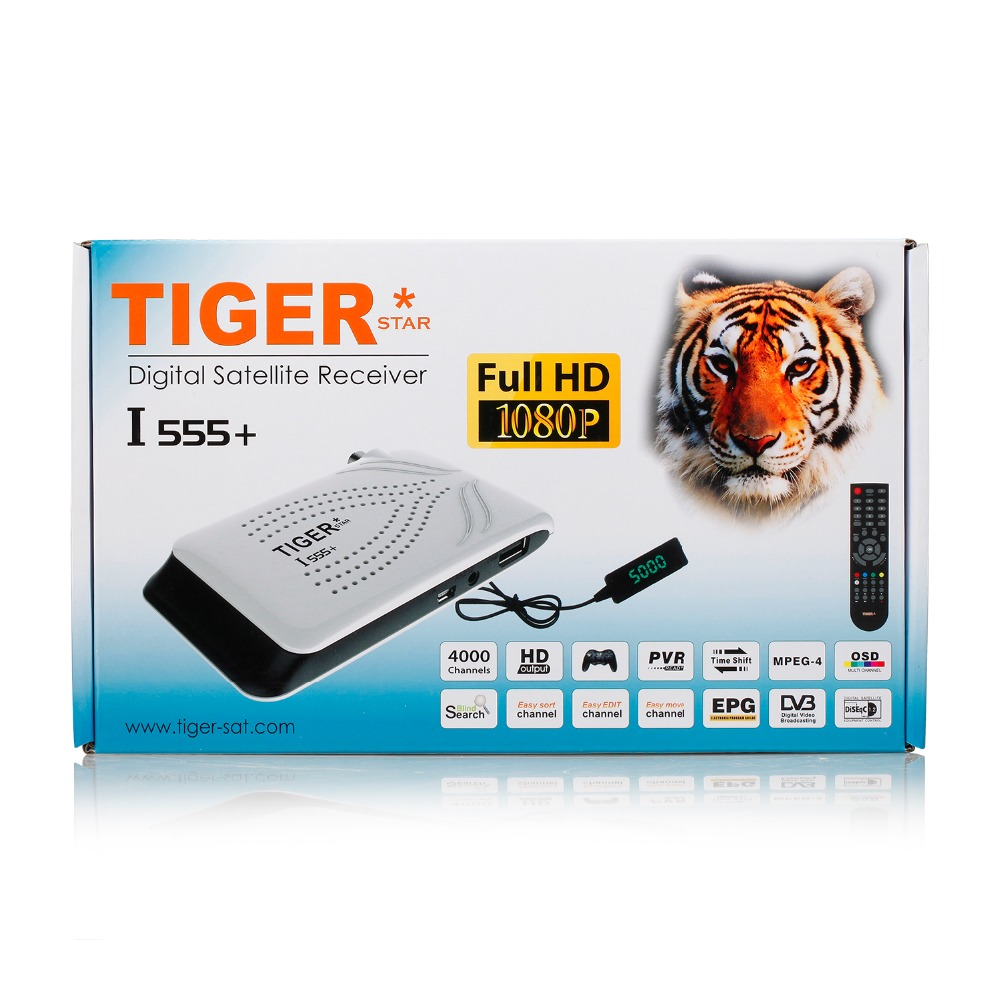 The Set-Top Box Tiger I555 + Echolink Digital Satellite Receiver