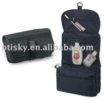 Foldable hanging toiletry bag/makeup bag