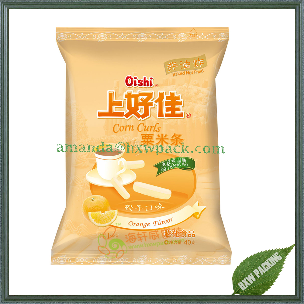 Custom Printed Patato Chips Dried Frozen Food Snack Plastic Food Packaging Bag