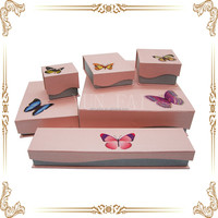 pretty decoration butterfly jewelry paper box