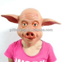 Disguise Rubber Latex Pig Head Mask For Halloween