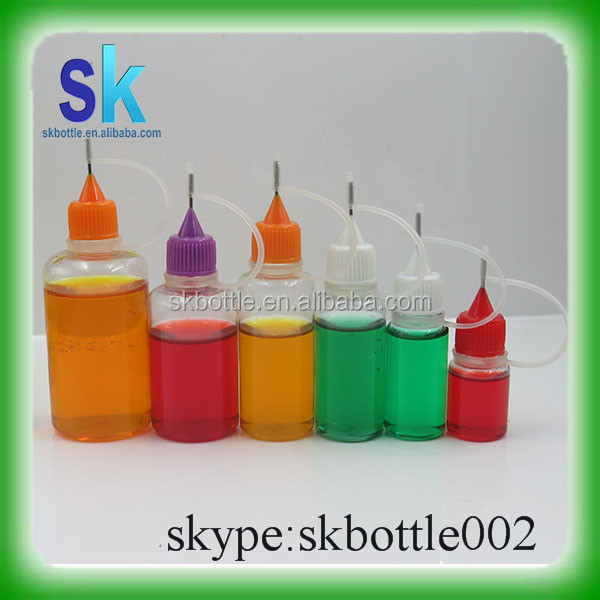 e liquid pet plastic bottle with needle tip cap