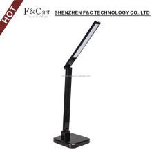 2016 new product touch table lamps with QI wireless charger USB port LED desk lamp