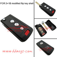 Modified Flip Folding nisan tiida remote key with 4 buttons and car logo