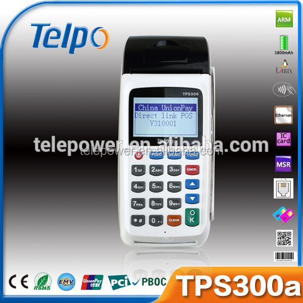 Telepower TPS300A Mobile POS Device date code printer ibm pos keyboard qr scanner