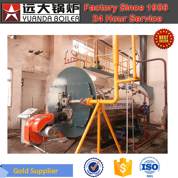 Horizontal Gas Fired 10Bar 1ton Steam Boiler for Hotel
