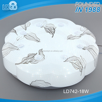 Most popular lacy arcylic cover 18w led flush mount ceiling light two years warranty with 50000 hrs lifespan