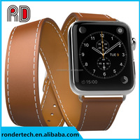 Cuff Single/ Double Tour wraps for apple watch band extra-long high quality genuine Vintage Leather loop 3 types 38mm and 42mm