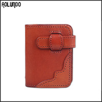Custom stitching genuine leather credit card holder case wholesale