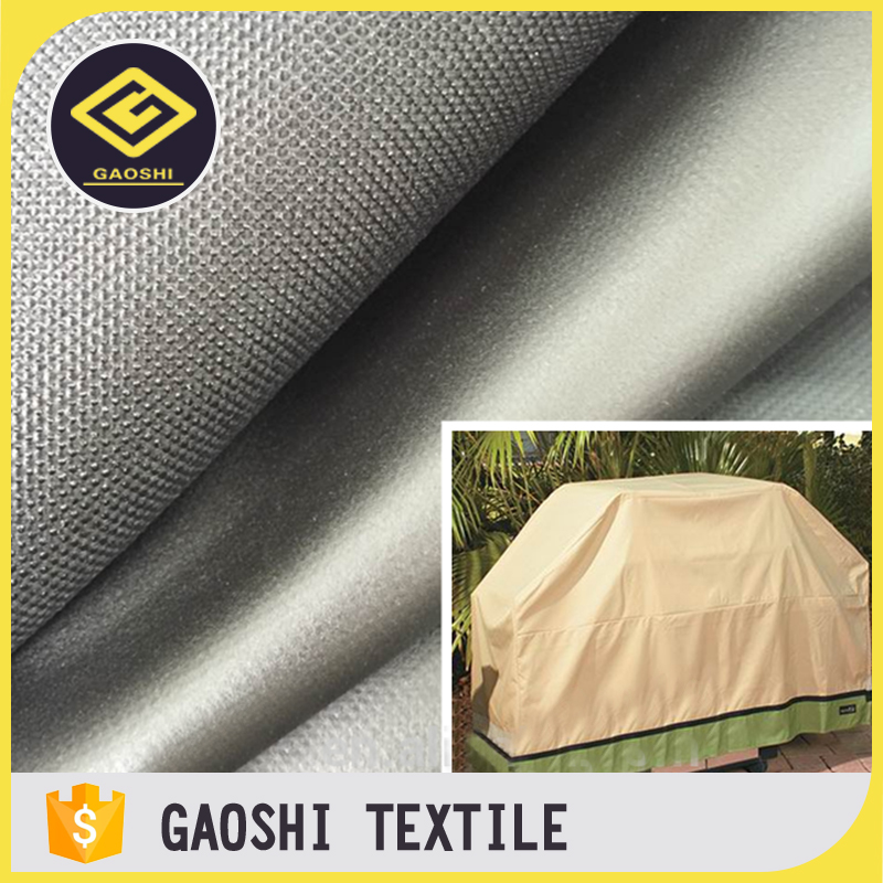 Various Styles Unique Shape 600D PE Laminated Coated Solution Dyed Outdoor Awning Tent Waterproof Polyester Fabric