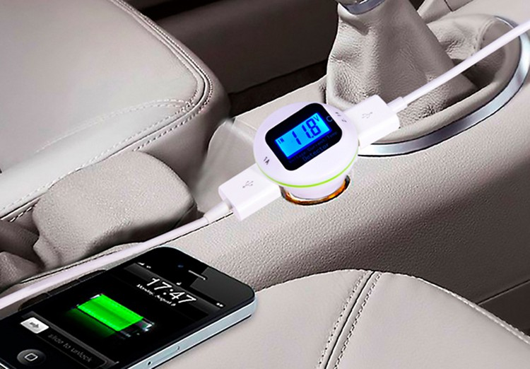 dual port car usb mobile phone charger