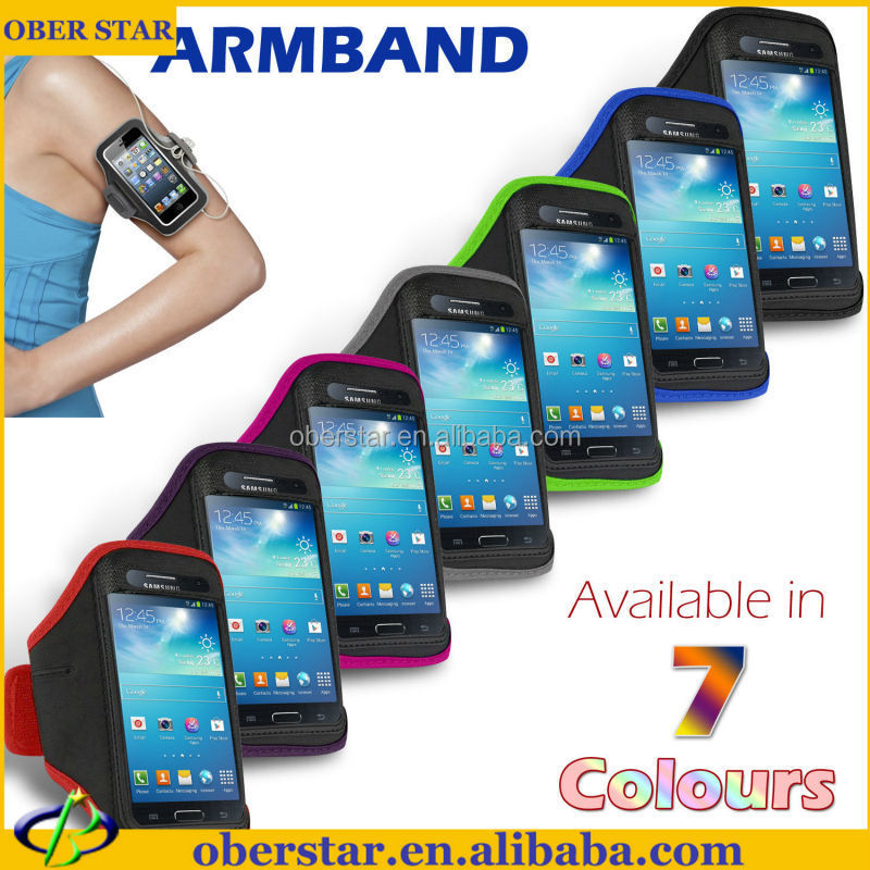 Mobile phone case For Samsung Galaxy S4 mini cover Water proof Sport jogging running gym armband Strap Case