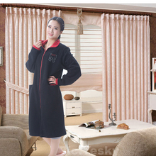 Black robe for arab ladies night gown
