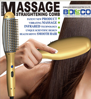 Head Massage Ionic Hair Straightening Brush,Hair Brush Straightener