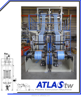 Taiwan ATLAS Two Colors Co-Extrusion Plastic Blowing Machines