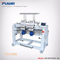 FUWEI computerized 2 heads high speed embroidery machinery with good quality and best price for baby clothing and cap hat