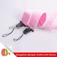 Cheap polyester lanyard strap for cell phone