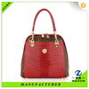 2016 new design weekend red Luxury leather bag in korean