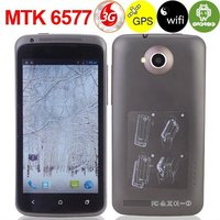 MTK 6577 Dual Core 1GHz Android 4.0 OS Dual Camera 5MP 4.5 inch Capacity Touch Screen build-in GPS WIFI 3G Smart phone - Black
