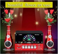 2016 new style art vase bluetooth speaker supply with telecontrol,FM radio,SD card,USB