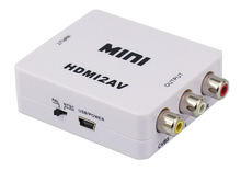 High quality mini HDMI to AV/Composite video/CVBS converter with USB cable Manufacturer