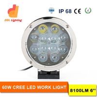 China manufacturer super bright auto round 4D 45W 60W IP68 7inch c ree led work light ,off road 12v 24v 60w led work light