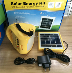 Attraction Solar 3.7V 2000MAH*2 / Lead acid battery 4AH ligting System with Radio