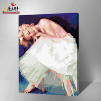 wholesale famous sexy woman painting on canvas painting by number with high quality