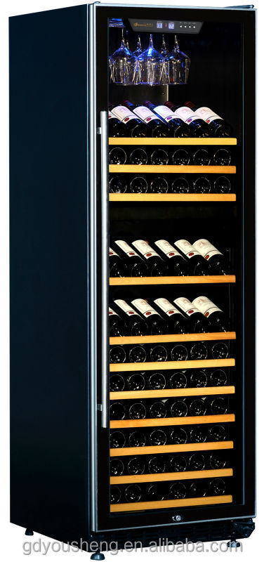 china 2014 new products home appliance wine cooler chiller bar fridge USF-168D(157-165Bottles 450L)