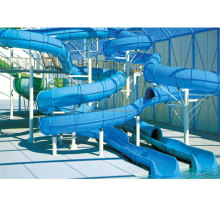Hot cheap aqua slide fiberglass slide and spiral tube slides for water park