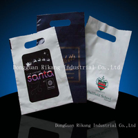Wholesale plastic bag carrying handle custom pouch