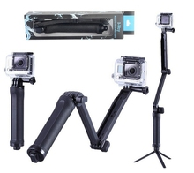 3 Way Adjustment Handheld Selfie Stick Tripod Action Camera Adjustable Mount For <strong>GoPro</strong> 4 3+ 3