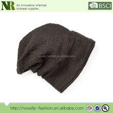 2017 new design high quality wool knit slouchy beanie