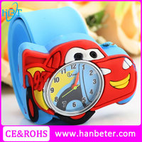 Children best gift watch snap band kids slap bracelet watch for merry christmas gift