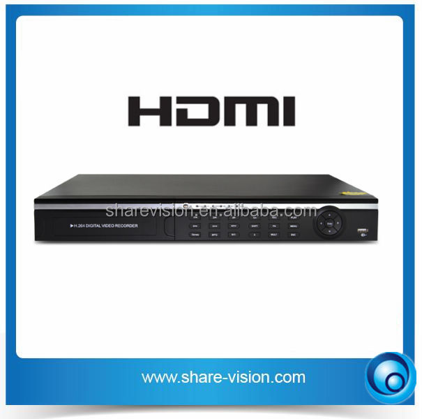 dvr with hdmi input, with hdmi / p2p / ptz / e-cloud / ddns / free cms cctv dvr system
